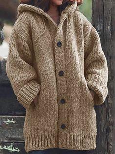 Loose Sweater, Sweater Coats, Sweater Hoodie, Long Sleeve Sweater, Sweatshirt, Men Sweater, Women's Coats, Sweater Outfits, Plus Size Outerwear