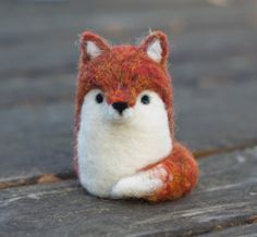 Needle Felted Fox by scratchcraft on Etsy, $22.00