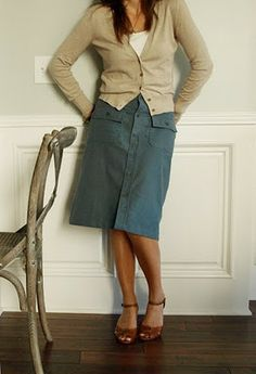 Skirt made from a man's dress shirt...I've got to try this...