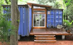 container home on short stilts