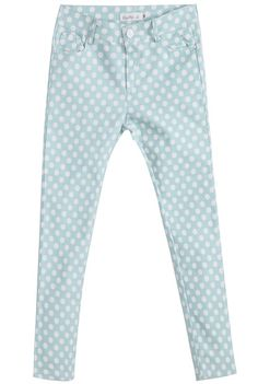 Green Elastic Polka Dot Pant pictures