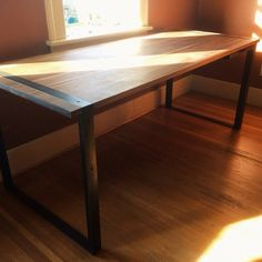my arch rival josiah zukowski designed and made this Oregon, Dining Table, Desk, Steel, Instagram Posts, Modern, Arch, House, Furniture