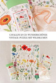 Die Vintage-Puzzles von Cavallini Papers & Co sind einfach zauberhaft! Erwerben könnt Ihr mein Wildflowers-Puzzle z.B. bei THE BRITISH SHOP. Wild Flowers, Puzzle, Vintage, Tableware, Blog, Products, Wildflowers, Simple, Nice Asses