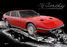 Maserati Indy Coupé in black & red (Originalfarbe)