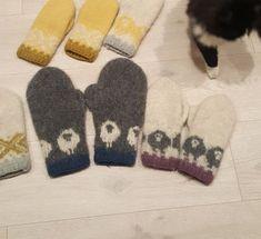 Tova vott sau (2) Felted Slippers, Knit Mittens, Sheep, Knitting Patterns, Knitting Ideas, Knit Crochet, Diy And Crafts, Gloves, Weaving