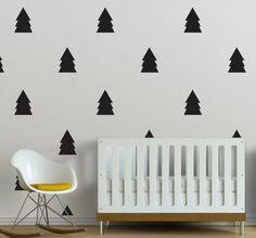 Evergreen Trees    WALL DECAL by TheLovelyWall on Etsy