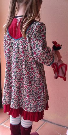 Liberty Oliver+S Playdate, Lined, with Ruffle by SewMentalMama, via Flickr