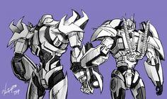 TFP Optimus , Megatron -2 by GoddessMechanic.deviantart.com on @DeviantArt