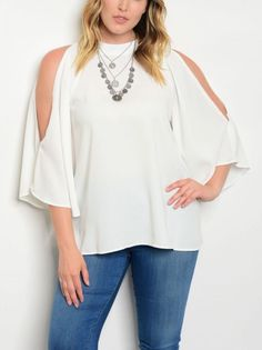 d054c6b53b5 Waist Made of Rayon and Spandex by Janette Plus. This top does have stretch  to it for a better fit and added comfort. We buy from several manufacturers  and ...