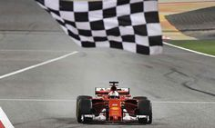 Sebastian Vettel Scuderia Ferrari SF70-H winning the Bahrain Grand Prix 2017