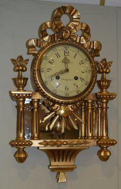 Antiques Atlas - Swedish Gilt Cartel Clock, 1920s