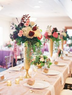 #Centerpiece | See the full wedding on #SMP: http://www.stylemepretty.com/2013/12/19/omaha-wedding-at-shadowridge-country-club/  Megan Pomeroy