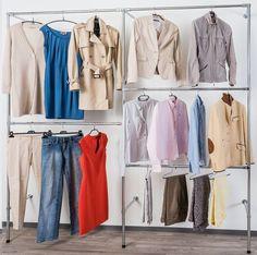 Kleiderschrank modern  Kleiderstange statt Kleiderschrank -modern-industriedesign ...