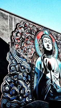 Buddha graffiti