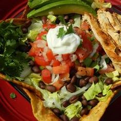 Cuban Grilled Chicken Salad Allrecipes.com | Recipes I want to try ...
