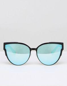 Quay Australia   Quay Australia Game on Flat Lens Metal Cat Eye Sunglasses