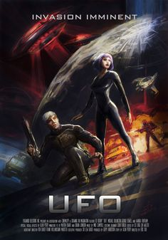 """Concept art for the proposed """"UFO"""" movie based on Gerry Anderson's UFO"""