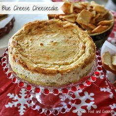 Ring in the New Year with this delicious and savory Blue Cheese Cheesecake! Recipes, Food and Cooking