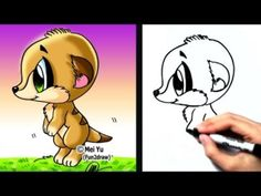 fun2draw animals | How to Draw Cartoons Easy - How to Draw a Meerkat