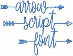 Arrow Script Font