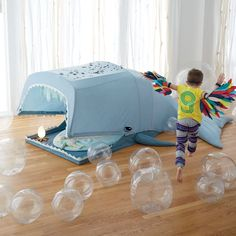 Our Giant Whale Playhouse doesn't need to hide 20,000 leagues under the sea. It features plenty of space and even a blowhole opening on top. Don't worry, it's extra friendly and doesn't even need its own aquarium.