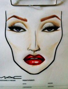 #MAC MARILYN FACE CHART