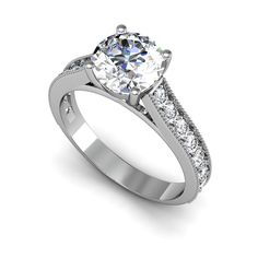 2.00ct Diamond Ring 14K White Gold (H-I I1-I2) (Size ) Women's