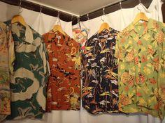 ヴィンテージ アロハ - Google 検索 Hawaiian Wear, Vintage Hawaiian Shirts, Vintage Shirts, Hawaii Shirts, Aloha Shirt, Textile Design, Thunder, Dapper, Vintage Designs
