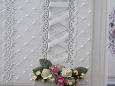 'Chantilly Tiara' and 'Chantilly Swag' - Topper Dies. Visit tatteredlace.co.uk for available stockists.