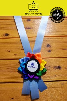Rainbow rosette ribbon lei for VIP of SM Megamall (Philippines). This rosette lei was given to special guests and VIPs of the said event. Homecoming Corsage, Ribbon Lei, Guest Speakers, Leis, Special Guest, Rosettes, Corporate Events, Philippines, Arts And Crafts