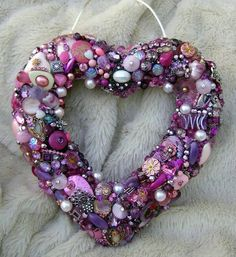 # PURPLE BITS & PIECES FOR A HEART WREATH