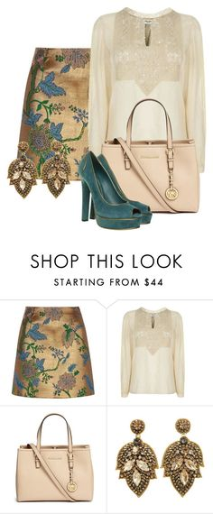 """""""Luxe Textures"""" by tjinwa on Polyvore featuring River Island, Yves Saint Laurent, Michael Kors and Gucci"""