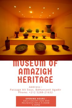 Must see in Agadir.  #Morocco #Travel #Museum #amazigh #Agadir #tourisme #lifestyle #tbt #nature