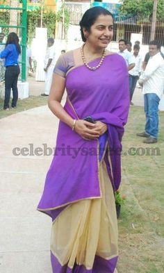 Suhasini Maniratnam Cotton Saree