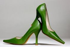 Love me some green leather shoes.