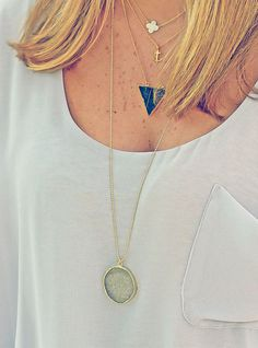 12 Ways to Layer Necklaces like a Style Blogger via Brit + Co.
