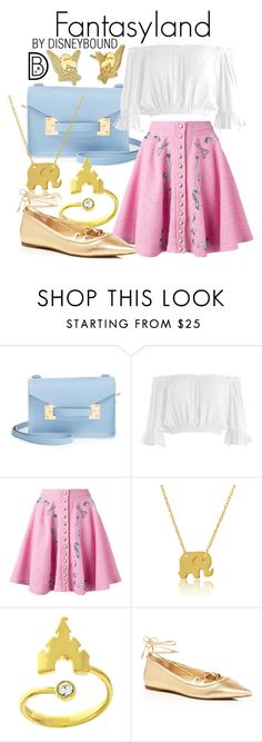 """""""Fantasyland"""" by leslieakay ❤ liked on Polyvore featuring Sophie Hulme, Sans Souci, Olympia Le-Tan, Wish by Amanda Rose, MICHAEL Michael Kors, Disney, disney, disneybound and disneycharacter"""