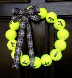 Tennis Ball Wreath - Tennis Coach, Pro, Player
