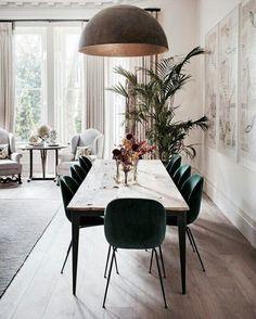 Finest Scandinavian Dining Room Design Ideas With Swedish Style - Kitchen Decoration Ideas Dining Room Table Decor, Dining Room Design, Dining Room Furniture, Dining Chairs, Dining Rooms, Diningroom Decor, Room Chairs, Arrange Furniture, Plywood Furniture