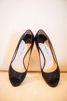 Sparkling Jimmy Choo shoes / Lauren Gabrielle Photography