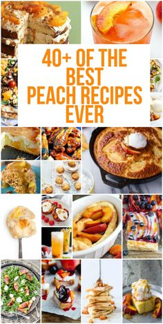40+ Of The BEST Peach Recipes