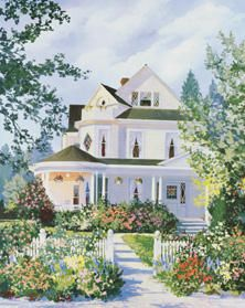 Victorian Splendor by Jacqueline Penney House Painting Fine Art Print