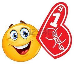 smiley+face+cartoon%3A+Emoticon+met+schuim+vinger+Stock+Illustratie