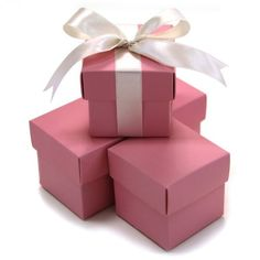 Koyal 2Piece 50Pack Square Favor Boxes Pink -- More info could be found at the image url.