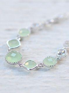 Mint Jewel Bracelet in Silver