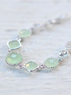 Mint Jewel Bracelet in Silver