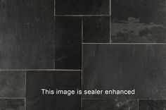 BuildDirect – Slate Tiles - Versailles Pattern – Indian Black - Multi View