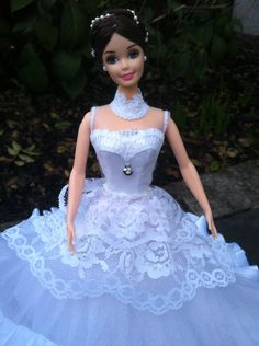 brautkleid bella puppenkleidung barbiekleid brautkleid bella ...