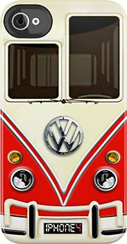 Red Volkswagen VW with chrome logo iphone 4 4s, iPhone 3Gs, iPod Touch 4g case by Pointsale store