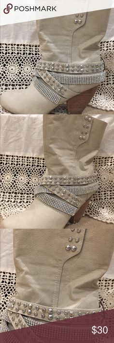 Naughty Monkey Boots Size 10 From BUCKLE. Cream colored, size 10. Fit true to size only worn a few times. naughty monkey Shoes Ankle Boots & Booties
